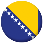 Bosnia Country Flag 25mm Flat Back